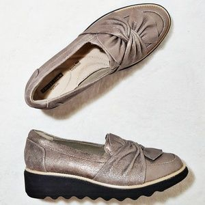 NWT Clarks Collection Sharon Dasher Pewter Suede